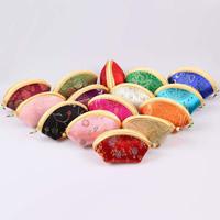 Geldbörse, Seide, mit Harz & Eisen, gemischte Farben, 120x45mm, 10PCs/Tasche, verkauft von Tasche