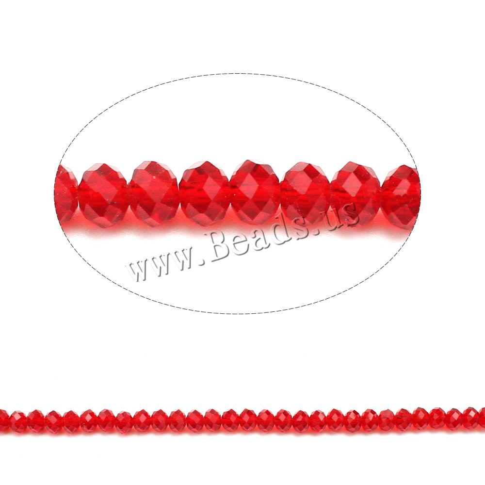 Buy Rondelle Crystal Beads faceted & imitation CRYSTALLIZED™ element crystal siam 5x6mm Hole:Approx 1mm Length:Approx 17 Inch 10Strands/Bag Approx 80PCs/Strand Sold Bag