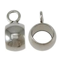 Edelstahl Kaution Perlen, Kreisring, originale Farbe, 4.5x10x7mm, Bohrung:ca. 2mm,5mm, 500PCs/Menge, verkauft von Menge