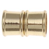 Messing Magnetverschluss, Zylinder, plattiert, keine, frei von Nickel, Blei & Kadmium, 19x12mm, Bohrung:ca. 10mm, 10PCs/Tasche, verkauft von Tasche