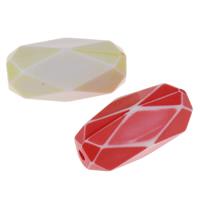 Chemische Wash Acryl Perlen, Zylinder, chemische-Waschanlagen & facettierte, gemischte Farben, 21x11mm, Bohrung:ca. 2mm, 2Taschen/Menge, ca. 315PCs/Tasche, verkauft von Menge
