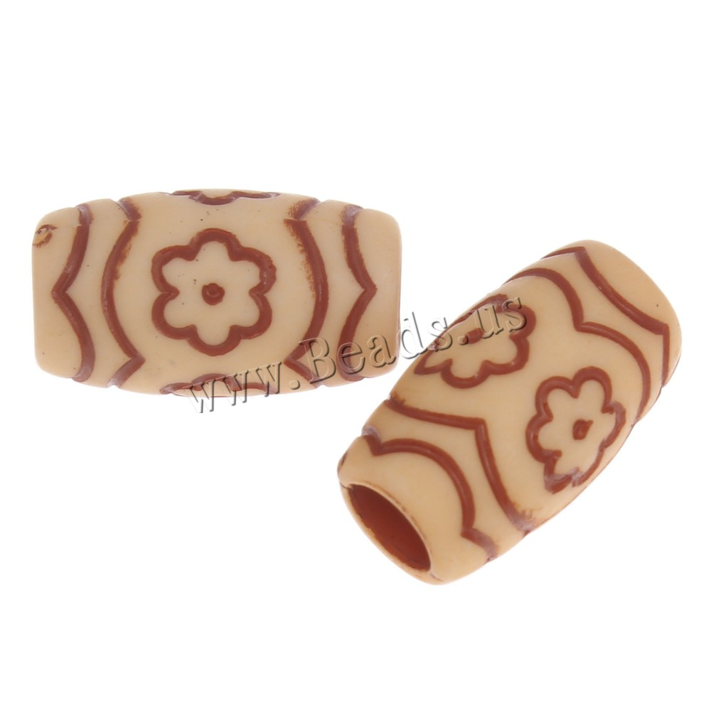 Buy Imitation Ox Bone Acrylic Beads Column large hole light coffee 19x11mm Hole:Approx 6mm 2Bags/Lot Approx 402PCs/Bag Sold Lot
