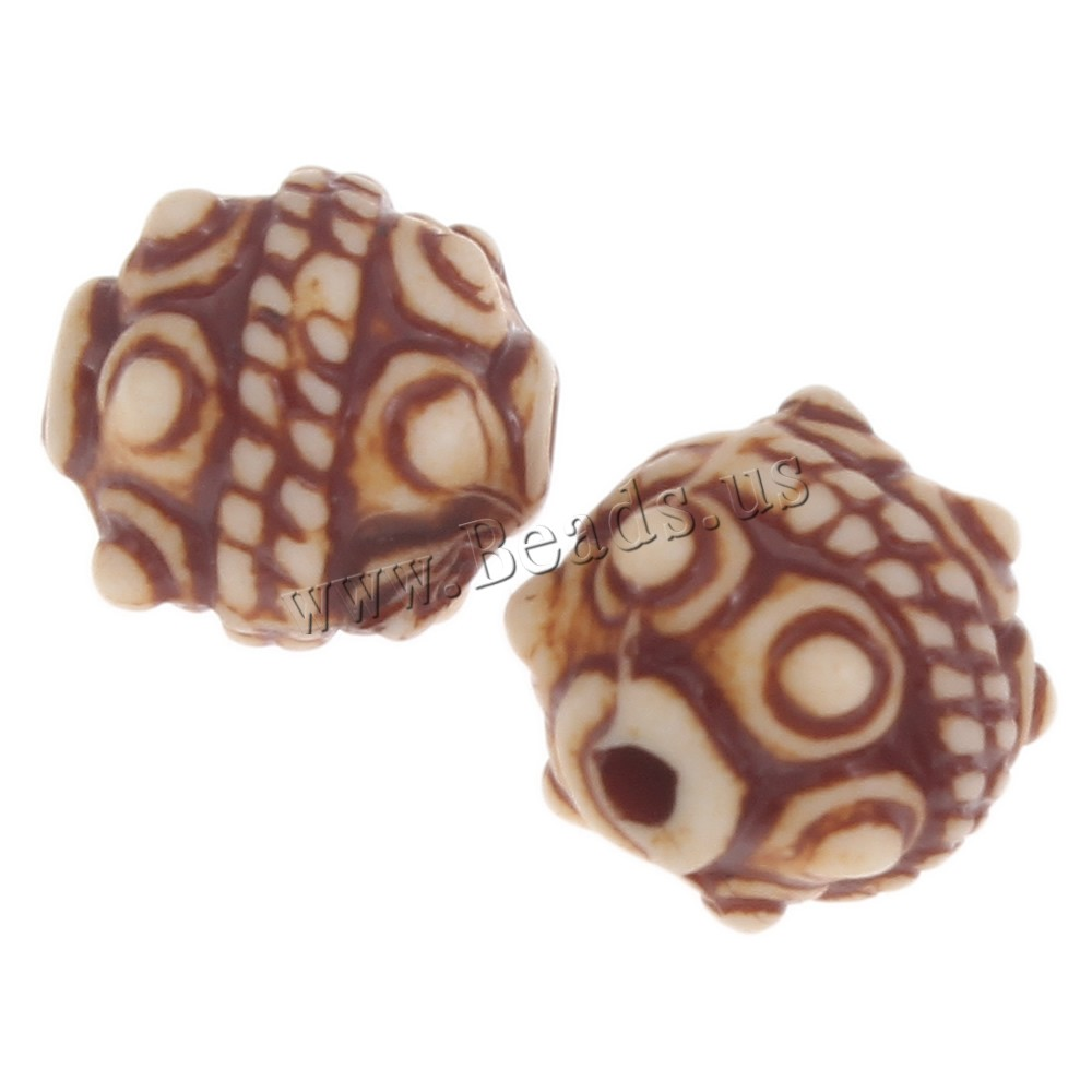 Buy Imitation Ox Bone Acrylic Beads Drum light coffee 9mm Hole:Approx 1mm 2Bags/Lot Approx 1400PCs/Bag Sold Lot