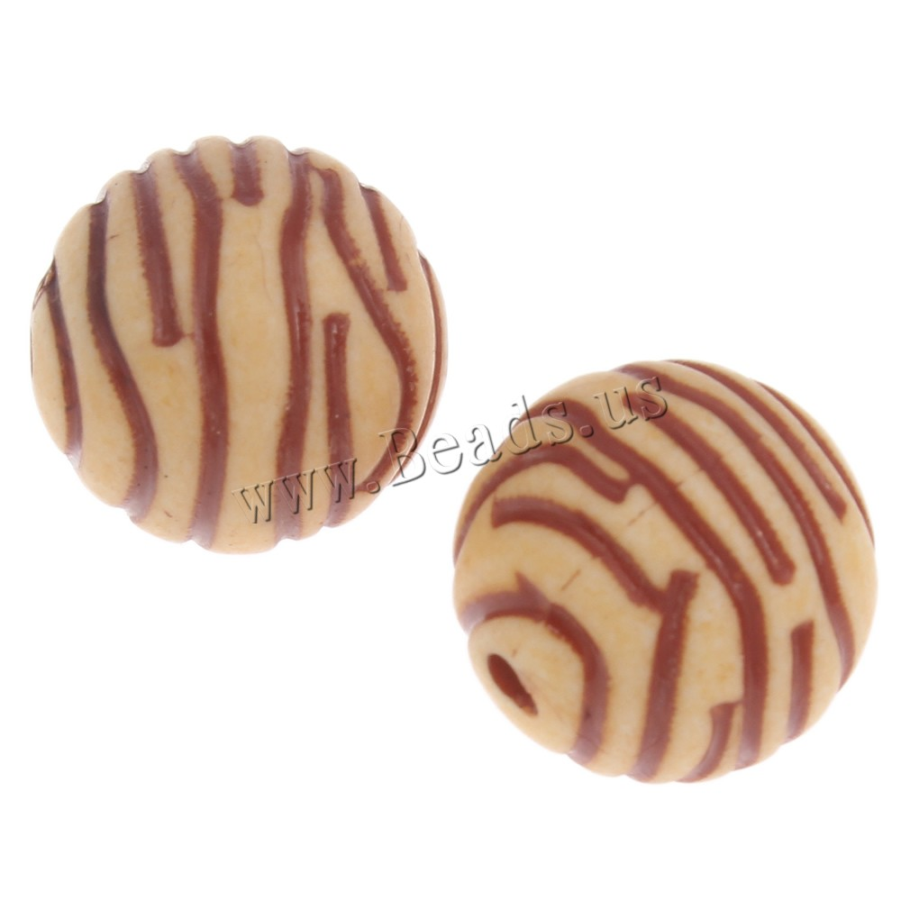 Buy Imitation Ox Bone Acrylic Beads Round light coffee 16mm Hole:Approx 2.5mm 2Bags/Lot Approx 520PCs/Bag Sold Lot