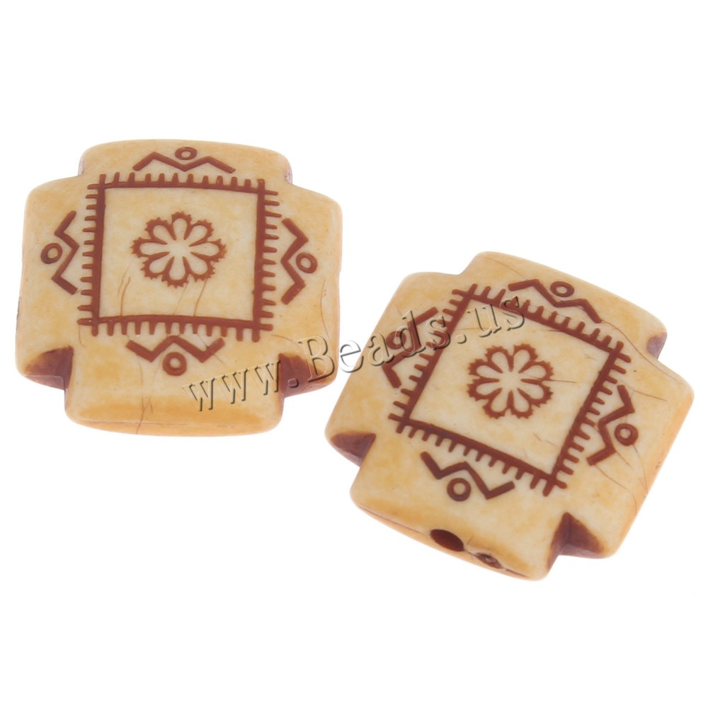 Buy Imitation Ox Bone Acrylic Beads Square light coffee 16x7mm Hole:Approx 1mm 2Bags/Lot Approx 148PCs/Bag Sold Lot