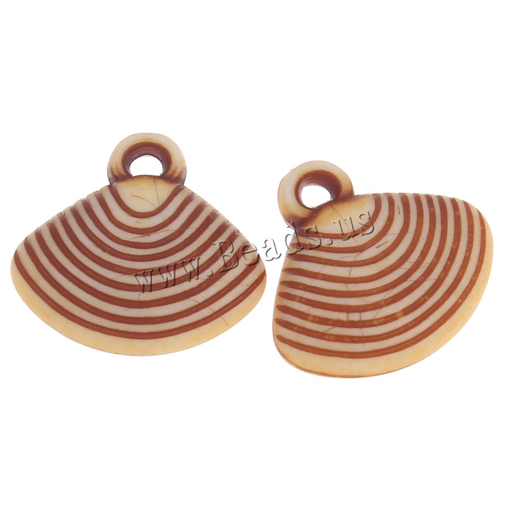 Buy Acrylic Pendants Shell imitation ox bone coffee color 17x15x6mm Hole:Approx 1mm 2Bags/Lot Approx 750PCs/Bag Sold Lot