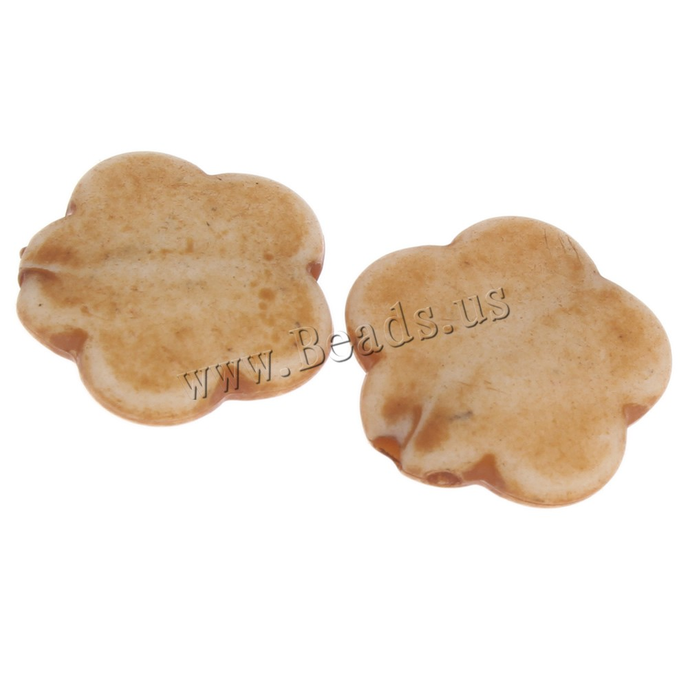 Buy Imitation Ox Bone Acrylic Beads Flower light coffee 15mm Hole:Approx 1mm 2Bags/Lot Approx 1010PCs/Bag Sold Lot