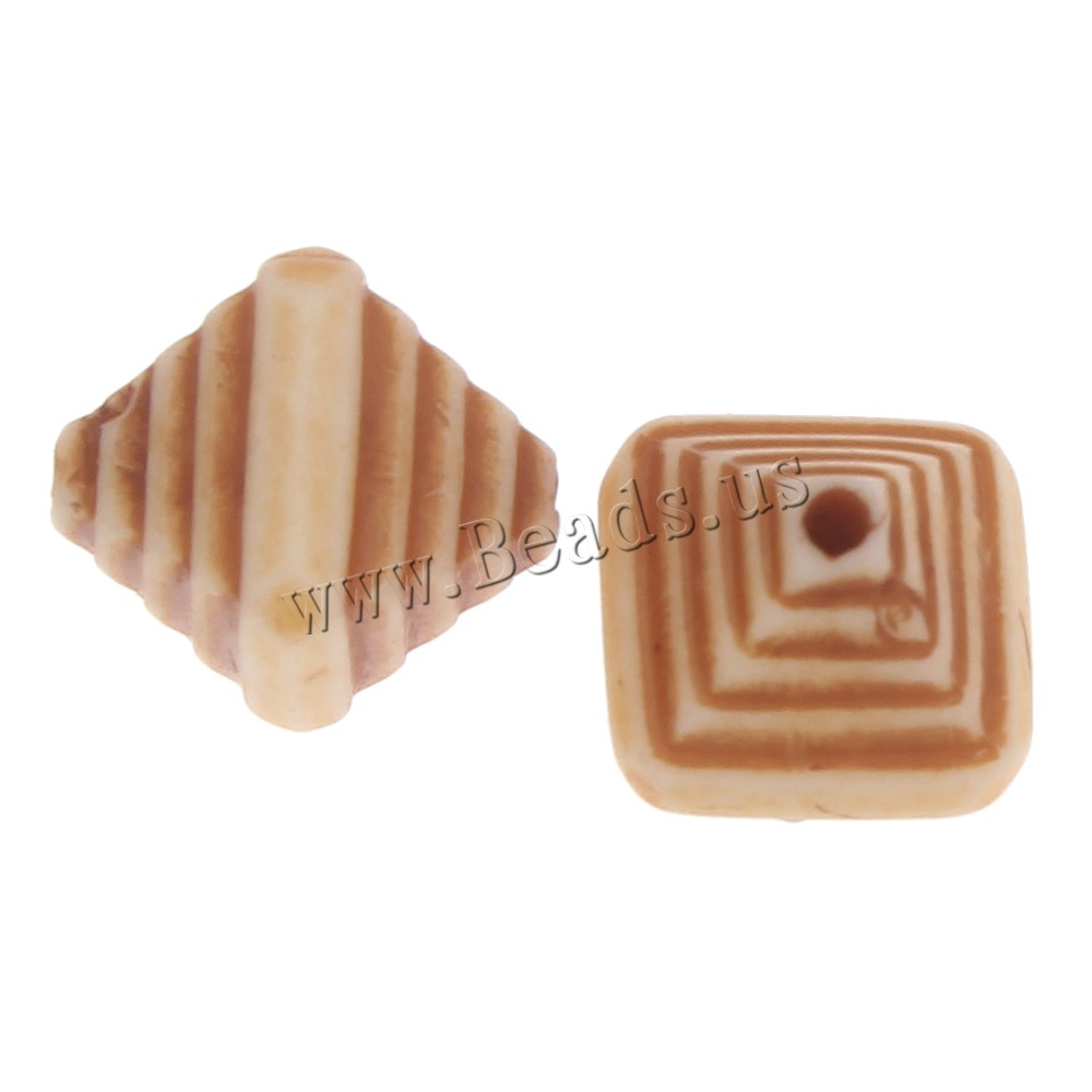Buy Imitation Ox Bone Acrylic Beads Bicone light coffee 12x10mm Hole:Approx 1mm 2Bags/Lot Approx 860PCs/Bag Sold Lot