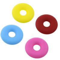 Silikon-Perlen, Silikon, FDA-Zulassung, keine, 32.50x32.50x7mm, Bohrung:ca. 10mm, 10PCs/Menge, verkauft von Menge