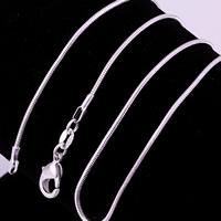 comeon® Schmuck Halskette, Messing, versilbert, verschiedene Größen vorhanden & Schlangekette, 1.20mm, verkauft von Strang