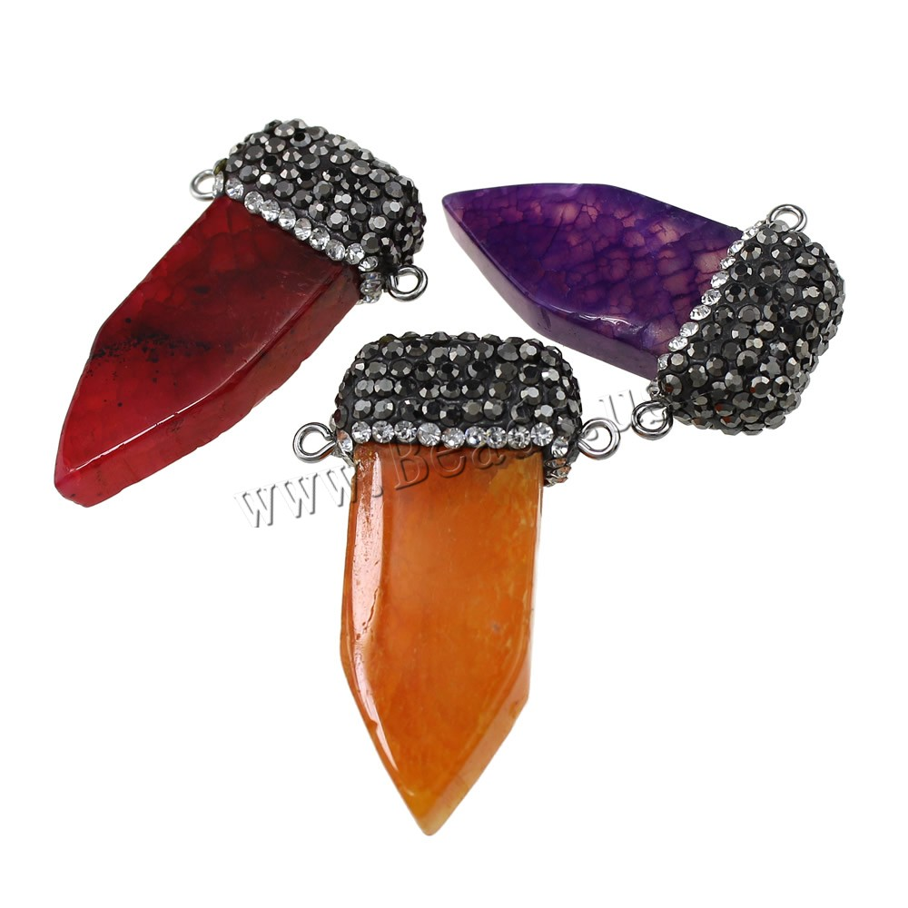 Buy Agate Jewelry Pendants Brass Rhinestone Clay Pave & Agate arrowhead platinum color plated natural & 1/1 loop colors choice nickel lead & cadmium free 28-30.5x40.5-46x11.5-13mm Hole:Approx 3x5mm 1 Sold Lot