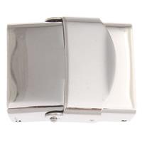 Uhrband Verschluss, Edelstahl, originale Farbe, 25x20x7mm, Bohrung:ca. 18.5x4mm, 5PCs/Tasche, verkauft von Tasche