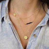 Mode-Multi-Layer-Halskette, Zinklegierung, mit Eisenkette & Glas-Rocailles, goldfarben plattiert, Oval-Kette & 3-Strang, frei von Nickel, Blei & Kadmium, 40cm, Länge:ca. 15.5 ZollInch, 3SträngeStrang/Tasche, verkauft von Tasche