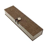 Leinen Halskettenkasten, mit Schwamm & Holz, Rechteck, 224x66x38mm, 12PCs/Menge, verkauft von Menge