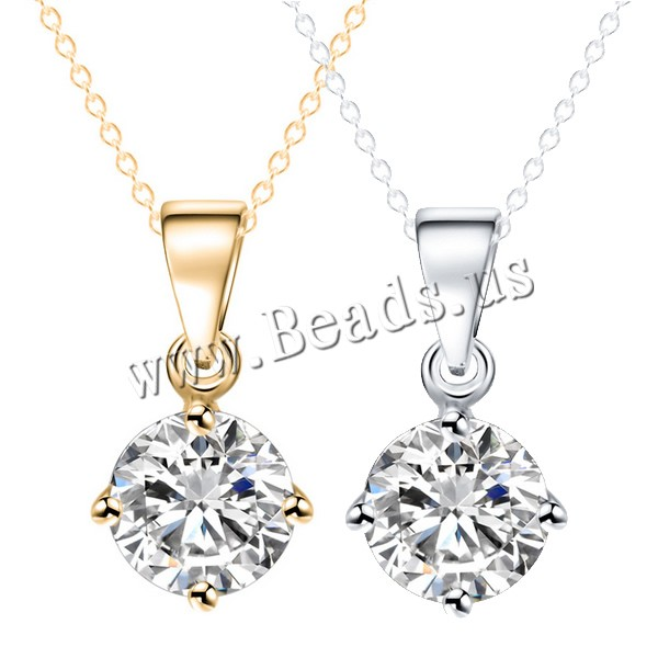 Buy Crystal Zinc Alloy Necklace Crystal Flat Round plated oval chain & faceted & rhinestone colors choice nickel lead & cadmium free 14x7mm Sold Per Approx 16.5 Inch Strand