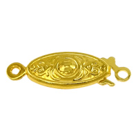 Messing Fischhaken Verschluss, Pferdeauge, goldfarben plattiert, Einzelstrang, frei von Nickel, Blei & Kadmium, 19.50x6.50x3.50mm, Bohrung:ca. 1mm, 1.5mm, 100PCs/Menge, verkauft von Menge
