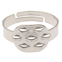 Eisen Loop Muffelbasis, Platinfarbe platiniert, einstellbar, frei von Blei & Kadmium, 19x10x19mm, Größe:7.5, 1000PCs/Tasche, verkauft von Tasche