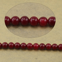 Marmor Naturperlen, natürliche Marmor, rund, rot, 10mm, Bohrung:ca. 1mm, Länge:ca. 15.5 ZollInch, 10SträngeStrang/Menge, ca. 39PCs/Strang, verkauft von Menge