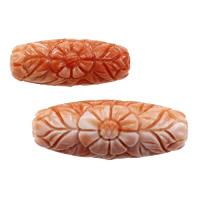 Riesenmuscheln Perlen, Riesenmuschel, oval, geschnitzt, verschiedene Größen vorhanden, Bohrung:ca. 1.5mm, 10PCs/Menge, verkauft von Menge