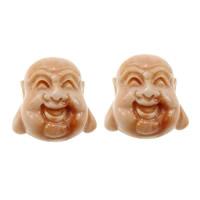 Buddhistische Perlen, Riesenmuschel, Buddha, geschnitzt, buddhistischer Schmuck, 15x15x13mm, Bohrung:ca. 1.5mm, 20PCs/Menge, verkauft von Menge