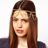 Eisen Kopf-Kette, goldfarben plattiert, Twist oval, frei von Nickel, Blei & Kadmium, 600mm, Länge:ca. 23.5 ZollInch, 3SträngeStrang/Tasche, verkauft von Tasche