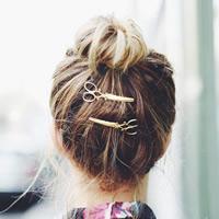 Haarschieber, Zinklegierung, mit Eisen-clip, Schere, goldfarben plattiert, frei von Nickel, Blei & Kadmium, 65mm, 3PCs/Tasche, verkauft von Tasche