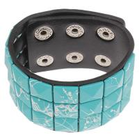 Harz Armbänder, PU Leder, mit Harz, 40x5mm, Länge:ca. 9 ZollInch, 12SträngeStrang/Tasche, verkauft von Tasche