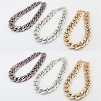 Verkupfter Kunststoff Halsketten, Verkupferter Kunststoff, mit Verlängerungskettchen von 5cm, plattiert, Twist oval, keine, 420mm, verkauft per ca. 16.5 ZollInch Strang