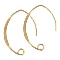 gold-gefüllt Ohrhaken, 14K gefüllt, frei von Nickel, Blei & Kadmium, 26x17mm, verkauft von Paar