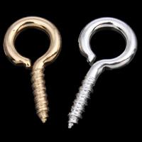 Eisen Ringöse, plattiert, keine, frei von Nickel, Blei & Kadmium, 6x13x1mm, Bohrung:ca. 3.5mm, 4000PCs/Tasche, verkauft von Tasche