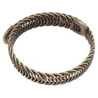 Eisen Armreif, Kreisring, antike Bronzefarbe plattiert, frei von Blei & Kadmium, 57x10x2mm, Innendurchmesser:ca. 48mm, Länge:ca. 6 ZollInch, verkauft von PC
