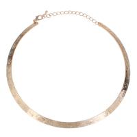 Eisen Halsketten, Kreisring, KC goldfarben plattiert, frei von Blei & Kadmium, 145x125x1mm, verkauft per ca. 16 ZollInch Strang