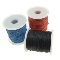 Wachsschnur, Gewachsten Baumwollkordel, mit Kunststoffspule, gemischte Farben, 1mm, 10PCs/Menge, 100WerftenHof/PC, verkauft von Menge