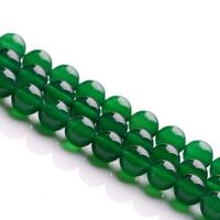 Natürliche grüne Achat Perlen, Grüner Achat, rund, verschiedene Größen vorhanden, Grade AAAAAA, Bohrung:ca. 1mm, verkauft per ca. 15.5 ZollInch Strang