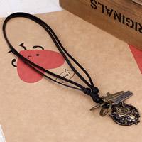 Kuhhaut Pullover Halskette, mit Zinklegierung, Tier, plattiert, einstellbar & mit Brief Muster & für den Menschen, 3mm, verkauft per ca. 26 ZollInch Strang