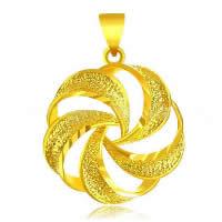 24 k-Gold überzogene hängende Farbe, Messing, Blume, 24 K vergoldet, Blume Schnitt & Vakuum Protektor Farbe & gehämmert, 20x27mm, Bohrung:ca. 3x5mm, 10PCs/Menge, verkauft von Menge