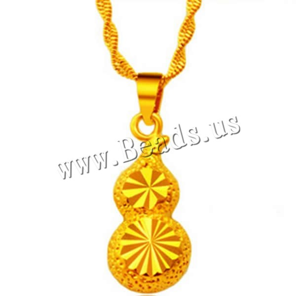 Buy 24 K Gold Color Plated Pendant Brass Calabash 24K gold plated flower cut & vacuum protective color & hammered 11x25mm Hole:Approx 3x5mm 1 Sold Lot