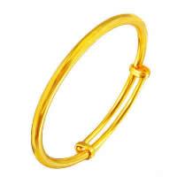 24 k-Gold überzogenes Armband Farbe, Messing, 24 K vergoldet, Vakuum Protektor Farbe & einstellbar, 5mm, Innendurchmesser:ca. 50mm, Länge:ca. 6 ZollInch, 10PCs/Menge, verkauft von Menge