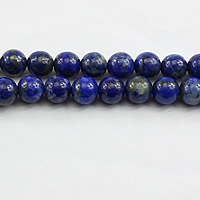 Lapislazuli Perlen, natürlicher Lapislazuli, rund, verschiedene Größen vorhanden, Bohrung:ca. 1mm, Länge:ca. 15 ZollInch, verkauft von Menge