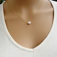 Eisen Halsketten, mit ABS-Kunststoff-Perlen, mit Verlängerungskettchen von 5cm, rund, 18 K vergoldet, Oval-Kette, frei von Blei & Kadmium, 38cm, Länge:ca. 15 ZollInch, 3SträngeStrang/Tasche, verkauft von Tasche