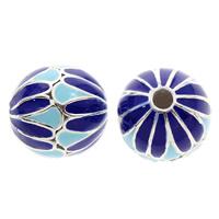 Cloisonne Perlen, Cloisonné, rund, handgemacht, frei von Blei & Kadmium, 12mm, Bohrung:ca. 2mm, verkauft von PC