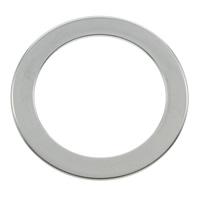 Edelstahl Verbindungsring, Kreisring, originale Farbe, 27x1mm, Bohrung:ca. 20mm, 100PCs/Tasche, verkauft von Tasche