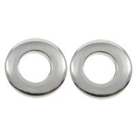 Edelstahl Verbindungsring, Kreisring, originale Farbe, 13x2mm, Bohrung:ca. 6.5mm, 200PCs/Tasche, verkauft von Tasche