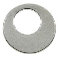 Edelstahl Verbindungsring, Kreisring, originale Farbe, 12x1mm, Bohrung:ca. 6x6mm, 200PCs/Tasche, verkauft von Tasche