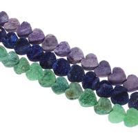 Druzy Beads, Eisquarz Achat, Herz, natürlich, druzy Stil, keine, 12x6mm, Bohrung:ca. 1mm, 16PCs/Strang, verkauft per ca. 6.5 ZollInch Strang
