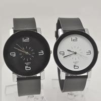 Ehepaar Uhrenarmbänder, PU Leder, mit Zinklegierung Zifferblatt & Glas, Platinfarbe platiniert, verschiedene Stile für Wahl & für paar, keine, verkauft von PC