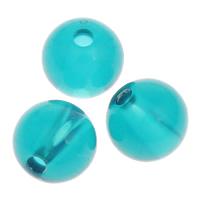 Transparente Acryl-Perlen, Acryl, rund, verschiedene Größen vorhanden, blau, Bohrung:ca. 1mm, verkauft von Tasche