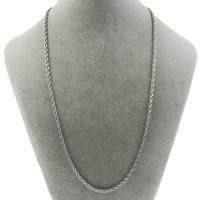 Halskette, Edelstahl, Seil-Kette, originale Farbe, 3.8mm, verkauft per ca. 19.5 ZollInch Strang