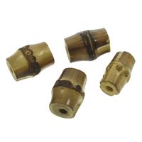 Bambus Perle, originale Farbe, 12x20mm-15x21mm, Bohrung:ca. 3.5-4mm, 100PCs/Tasche, verkauft von Tasche