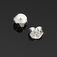 925 Sterling Silber Spannung Ohrmutter, 5x4.50x3mm, Bohrung:ca. 1mm, verkauft von Paar